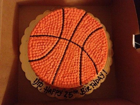 Basketball birthday cake for my basketball loving husband