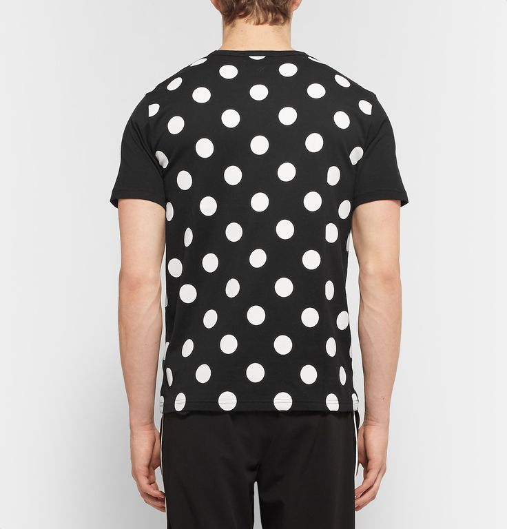 Aloye - Polka Dot-Panelled Cotton-Jersey T-Shirt