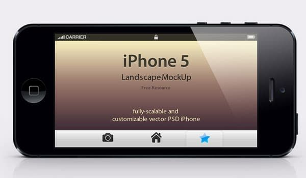 Download Iphone 5 Psd Landscape Mockup Iphone 5 Free Mockup Templates Iphone