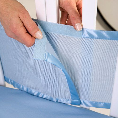 Velcro for breathable mesh crib bumper