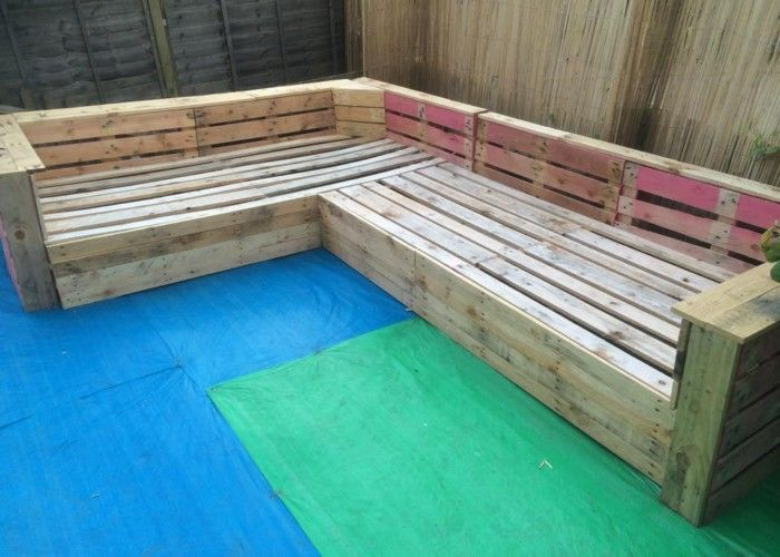 Diy Pallet Patio Or Garden Corner Sofa Pallet Patio And