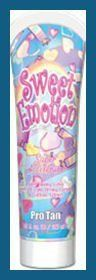 2008 Pro Tan Sweet Emotion Super Accelerator Tanning Lotion by Pro Tan. $9.95. Firming. Accelerator. Skin Firming/Accelerator Lotion  Fortified with CX2 Skin Firming ComplexTM which contains Caffeine, Coenzyme A, Coenzyme Q and L-Carnitine. Fragrance: Cotton Candy Tangerine Recommended for intermediate to advanced tanners. Save 45%!