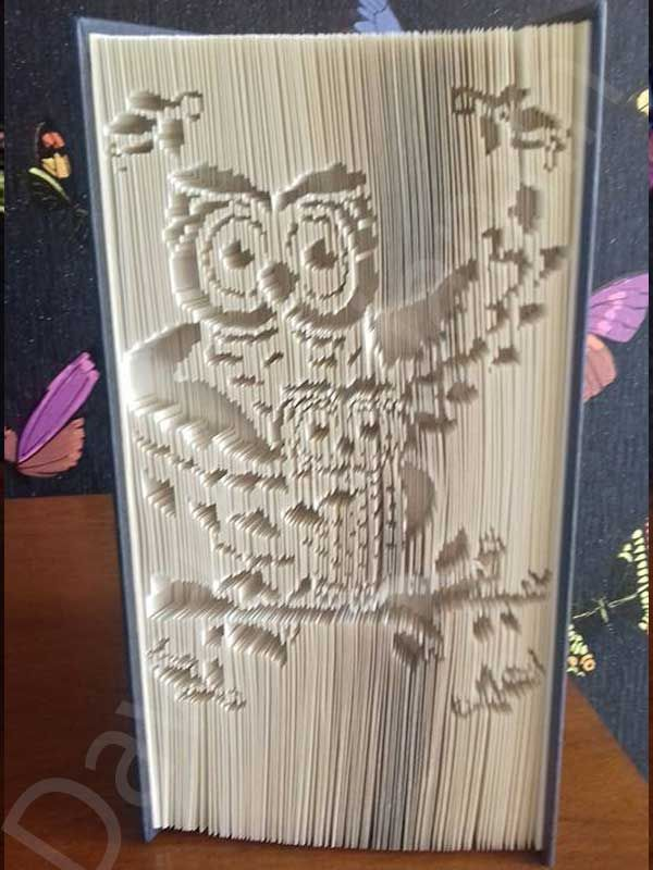 Create Your Own Stunning Piece Of Book Art With This Cute Mother And Baby Owl Cut