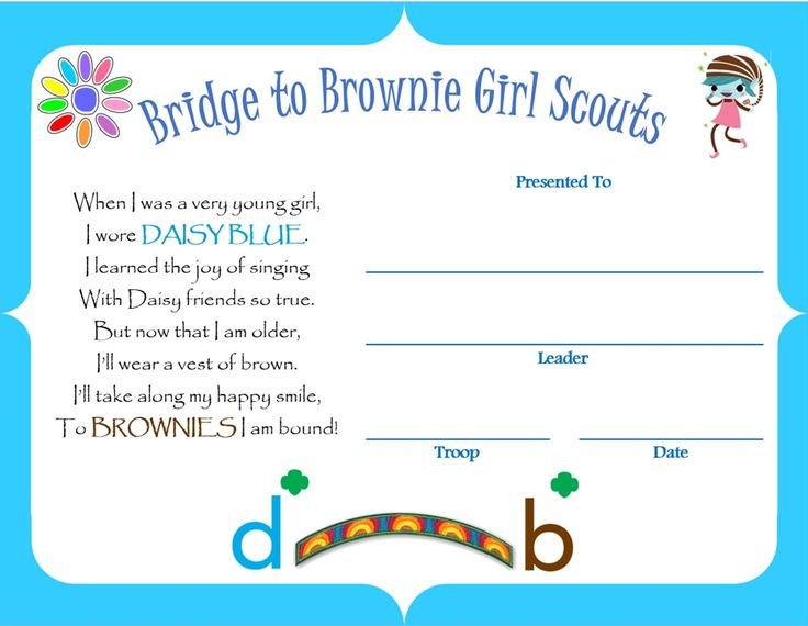 Bridge to Brownie Award - Girl Scouts of Central Indiana