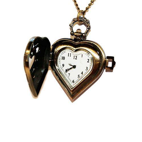 Hartvormige horloge ketting brons - Extreme Largeness