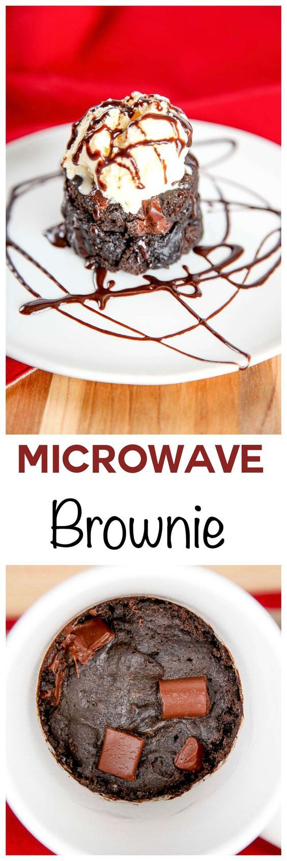 Microwave Mug Brownie: Moist and fudgy chocolate brownie loaded with rich chocolate chunks. Made in your microwave and ready in less than 5 minutes. This microwave mug brownies is perfect for that gotta have it NOW chocolate craving!