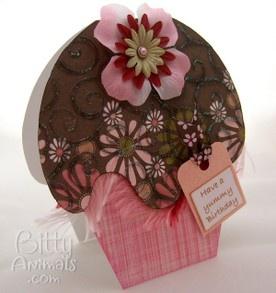 Cute cupcake card tutorial