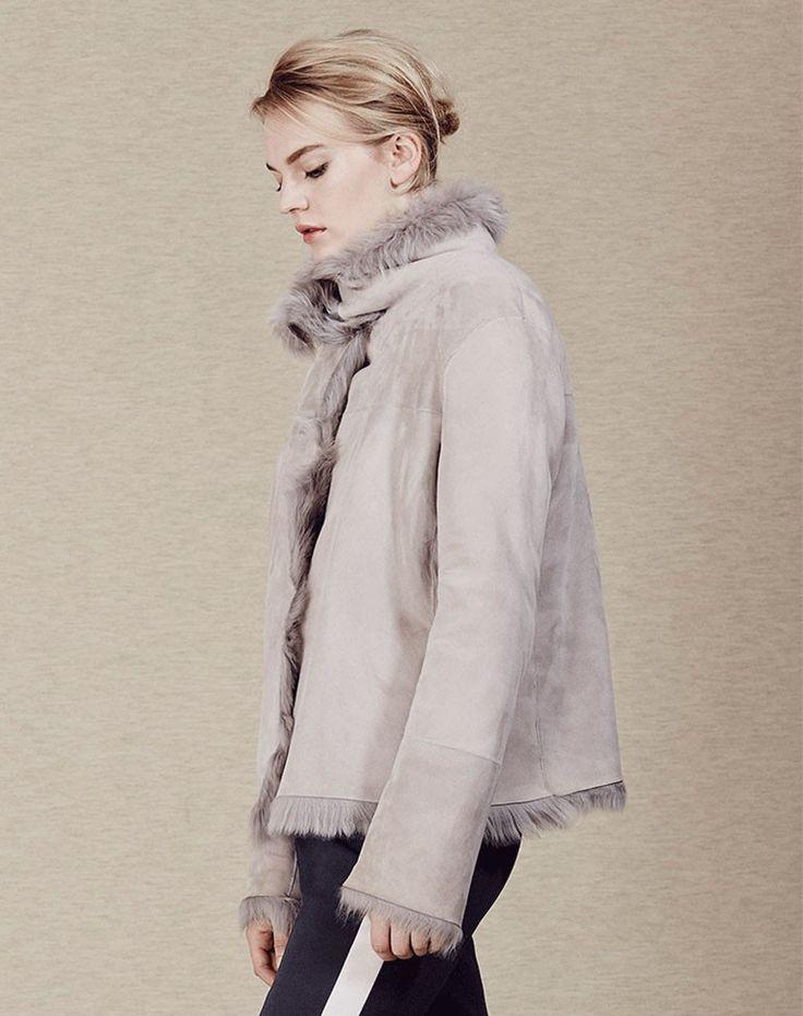 ME+EM Reversible Shearling Jacket