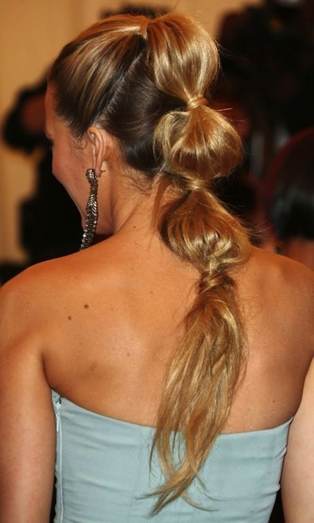 blake lively, hair tutorial, ponytail, celebrity