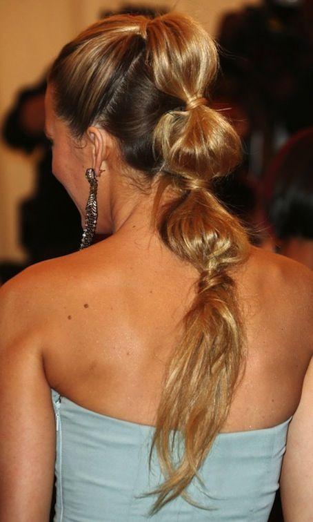 blake lively, hair tutorial, ponytail, celebrity