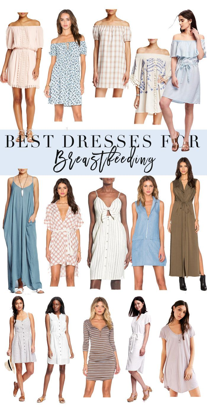 Best Dresses for Breastfeeding // A roundup of dresses that are perfect for nursing your little babe for spring and summer!