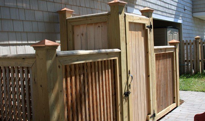 Fencing, Hide Eyesores in Landscape trash can hider
