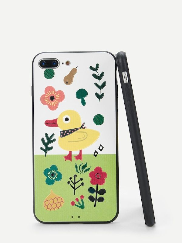 7dff168fc4 Duck & Flower iPhone Case | SHEIN | Phone Cases in 2019 | Iphone ...