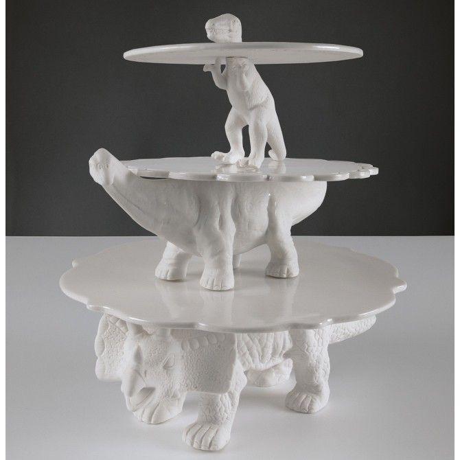 seletti prsentoir gteaux sauria bronto en porcelaine blanche - Presentoir Piece Montee Mariage