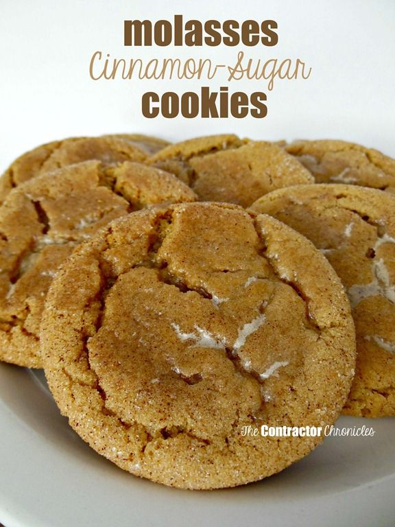 Molasses cookies, Cinnamon sugar cookies and Cookies on Pinterest