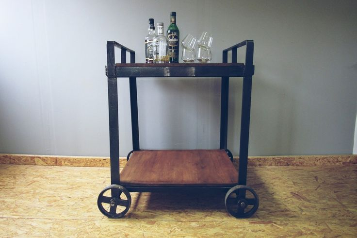 Woonhome Industriele Drankenkar Kar Vintage Drankentrolley