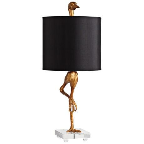 Gold Ibis Table Lamp Creative Birds And Stand On