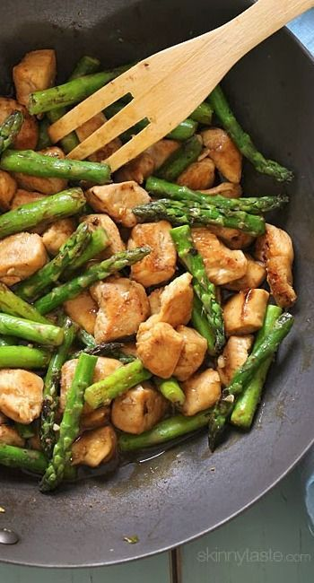 Chicken and Asparagus Lemon Stir Fry/This is delicious.