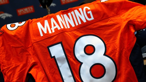 """The big deal is done. Peyton Manning is a Denver Bronco.    """"I believe that he's got a lot of great football left in him,"""" Broncos executive and Hall of Fame QB John Elway said at a press conference Tuesday."""
