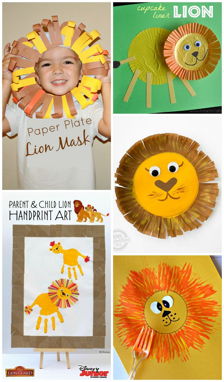 Adorable lion crafts for kids to make! Using paper plates, handprints, forks, toilet rolls and more! Great for zoo themes