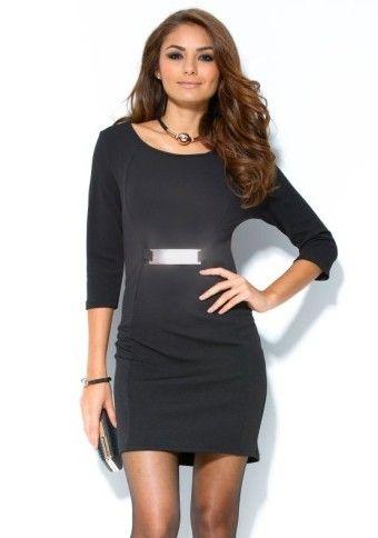 Krátké šaty s kovovou aplikací  #modino_cz #modino_style #budtein #LBD #Littleblackdress #dress #style #fashion #ModinoCZ