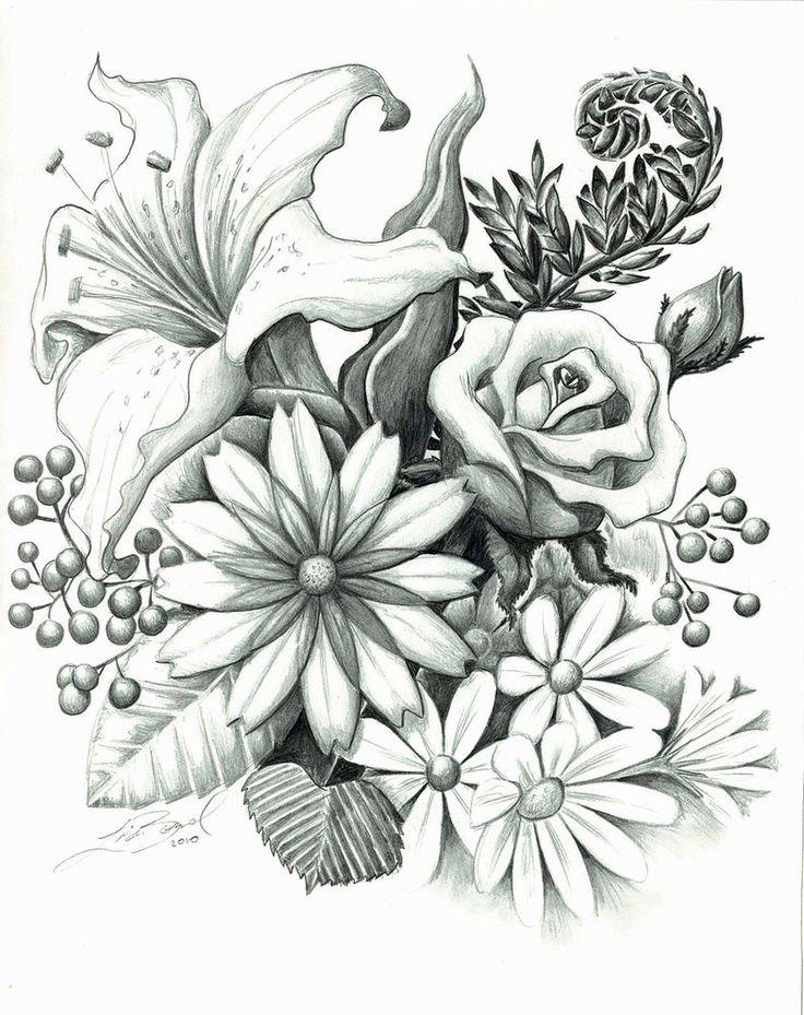 цветы фэнтези карандашом картинки свою творческую деятельность