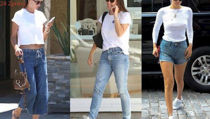 Bílé tričko a džíny budou slušet i vám: Jak je nosí celebrity?