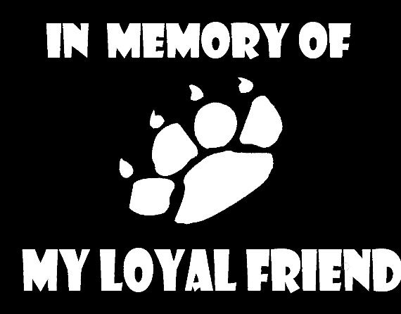 IN MEMORY OF Vinyl Decal Lettering PAW PRINT Personalized  Vinyl Sticker
