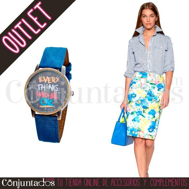 Reloj OK en denim ★ 7'95 € en https://www.conjuntados.com/es/outlet/reloj-ok-en-denim.html ★ #outlet #liquidacion #descuentos #rebajas #soldes #watch #watches #conjuntados #conjuntada #accesorios #complementos #moda #fashion #fashionadicct #picoftheday #outfit #estilo #style #GustosParaTodas #ParaTodosLosGustos