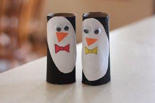 Titina's Art Room: 12 easy penguin crafts... for kids to make!