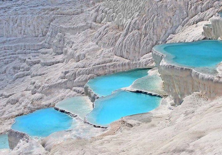 Natural turquoise pools of Pamukkale Turkey. Photo - Werner Bohm. Also Follow  @TheBeautyOfThailand #OurLonelyPlanet #Turkey Hotels-live.com via https://instagram.com/p/7980aVRtOo/