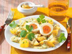 Kartoffeln in Senfsoße zu Ei