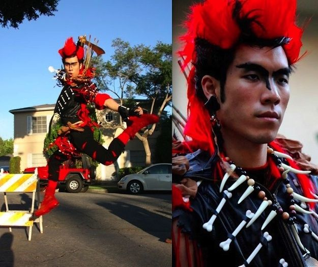 """""""Battle Rufio.D idn't realize the powerful nostalgia this character elicits from apparently anyone who lived through 1991. I lost all my friends during the Carnaval from being swarmed and ended up taking photos with strangers for 3 hours. At one point I stood atop a cop car and had 50+ people (including the police) chanting """"KILL THE LAWYER!""""  Best part was a friend sending photos of me to Dante Basco, who deemed it the """"most awesome Rufio costume"""" he'd ever seen. Bangarang indeed."""""""