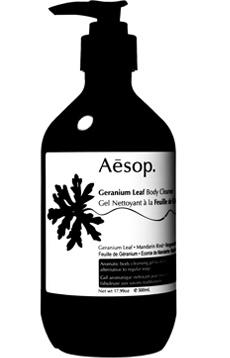 Aesop Geranium Leaf Body Cleanser.  YAY!