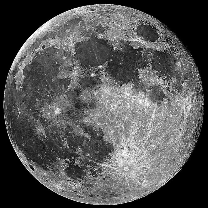 Interactive Moon Map This Lunar map emphasizes the major features on the near side of the Moon such as the Lunar Maria and large craters