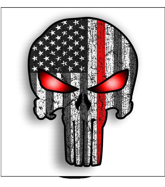 Decal//Sticker Support Our Troops with Stormtrooper Sugar Skull Large