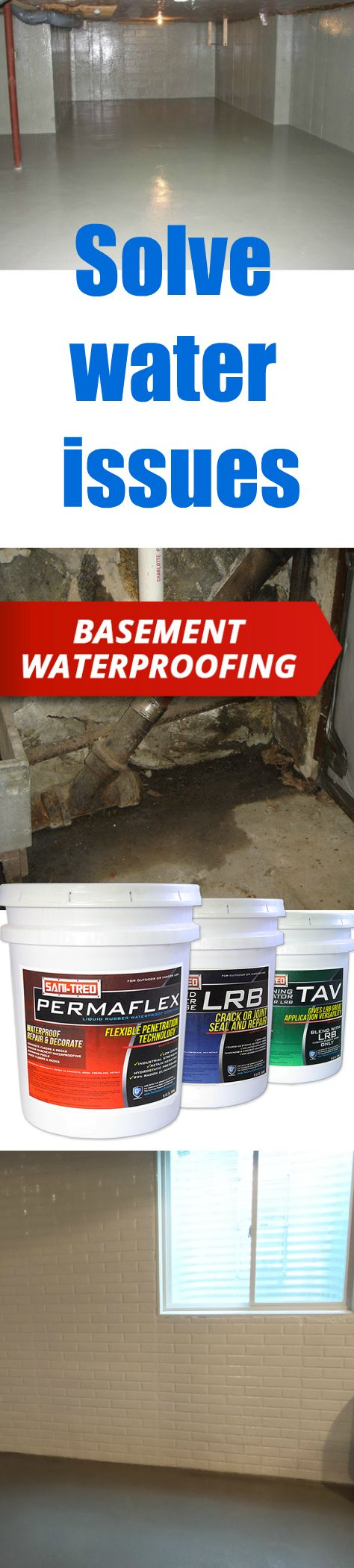 Solve water issues in your basement once and for all! DIY basement waterproofing.  Click to learn more!