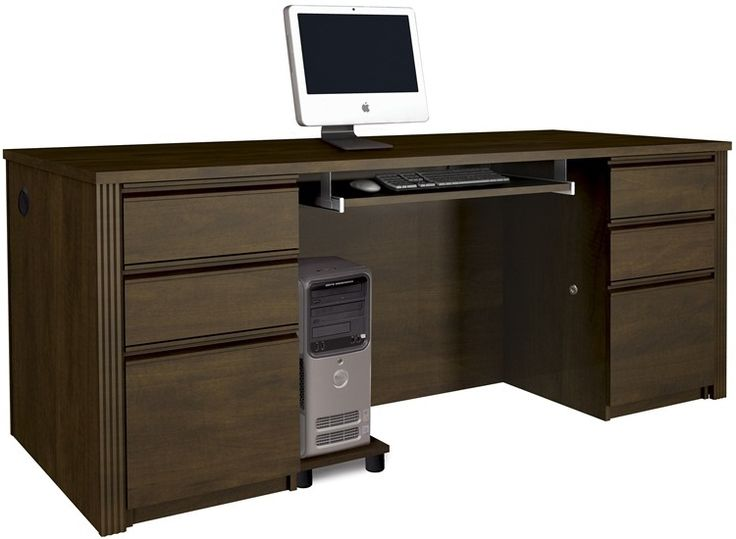 Prestige + Executive Desk Set in Chocolate, 99850-69 by BeStar | BizChair.com