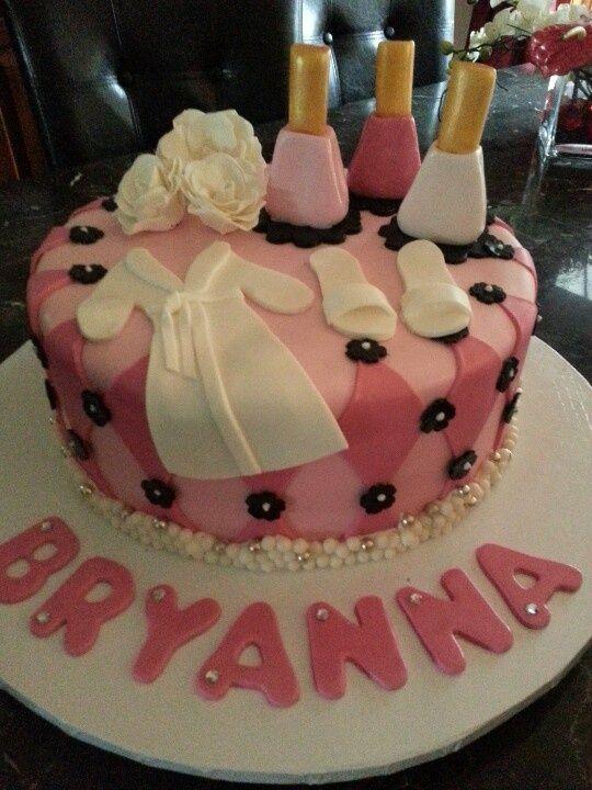 spa birthday cake ideas | repinned via laura conchacha