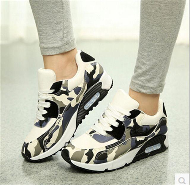 Дышащий камуфляж черный обувь девушка свободного покроя воздуха с прогулки холст 2015 узелок квартиры женщины туфли на платформе 02325