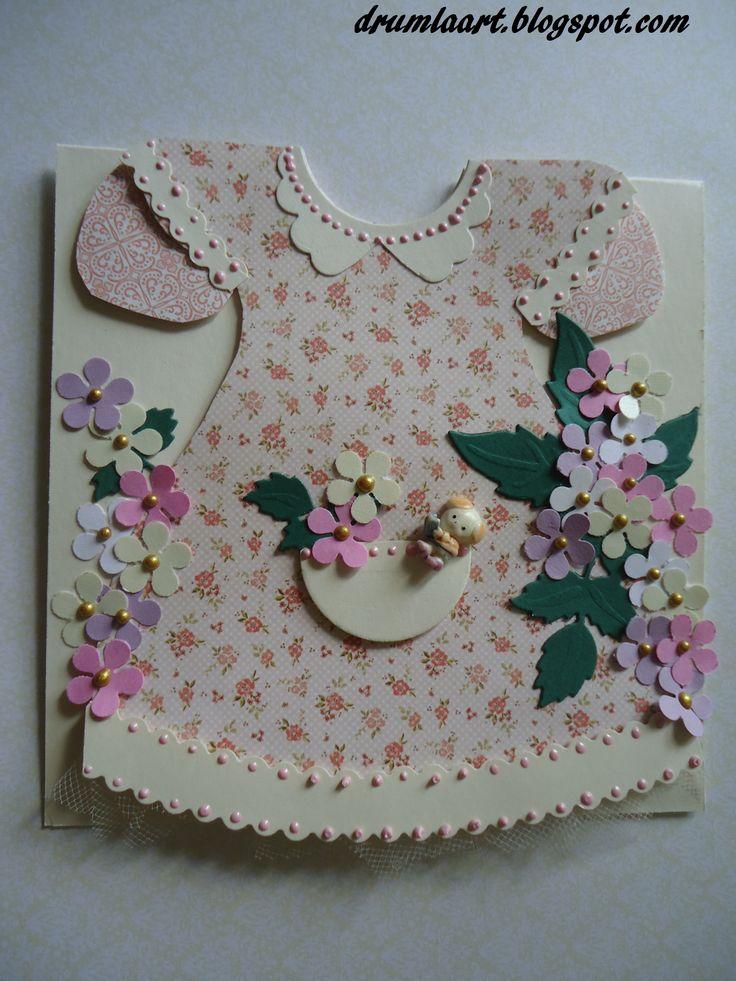 kartka dla dziewczynki  drumlaart.blogspot.com