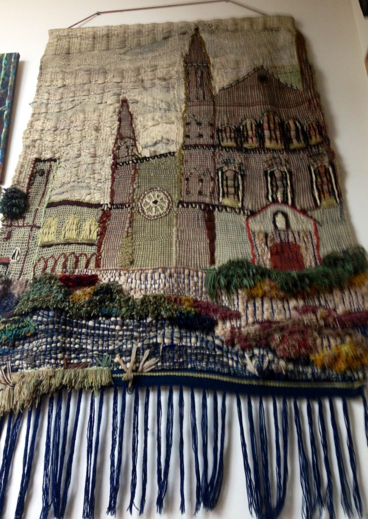 St David's cathedral woven wall hanging by Jackie Maddocks at Melin Trefin, Trefin, Pembrokeshire. www.melintrefin.co.uk