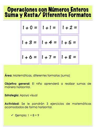 Actividad para aprender a realizar sumas de manera horizontal.