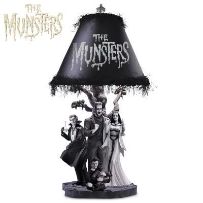 Officially licensed lamp with fully-sculpted base featuring favorite characters and built-in LED lights. Official logo on shade. Limited edition.