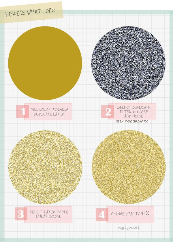 How to create glitter. | 21 Incredibly Simple Photoshop Hacks Everyone ShouldKnow
