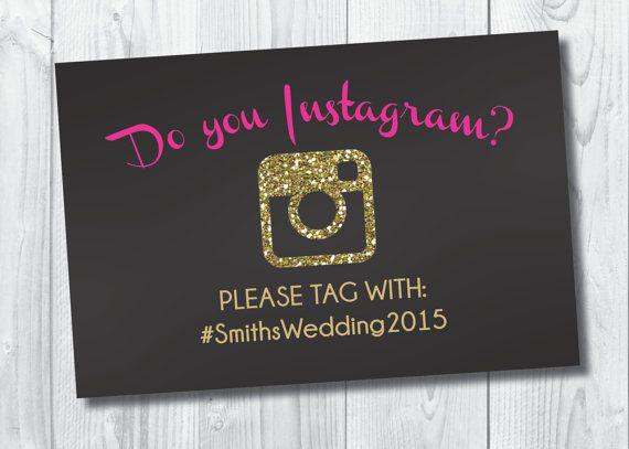 Bachelorette Hashtag Sign (INSTANT DOWNLOAD!): Bachelorette Hashtag/Social Media/Instagram Sign, Black, Gold, Pink & Glitter