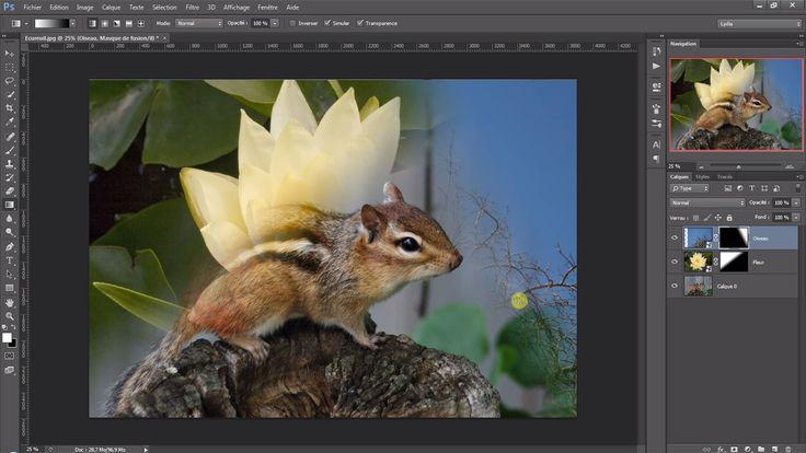 Créer un fondu en dégradé entre deux images sous Photoshop