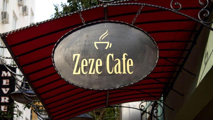 Zeze Cafe - Antalya cafeler . Tabela.