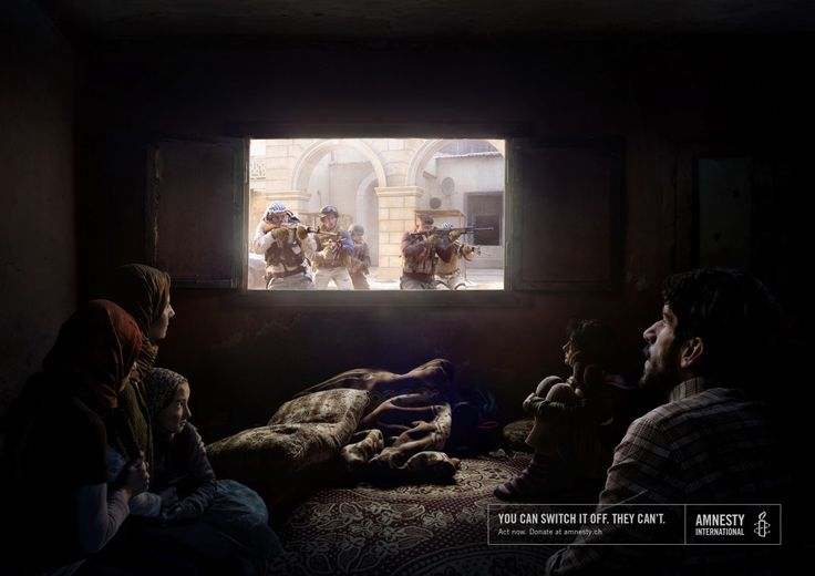 """Switch it off."" by Ogilvy & Mather GmbH for Amnesty International"
