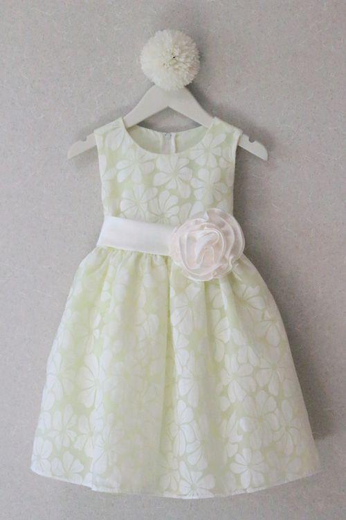 子供ドレス ピアノ発表会ドレス 1-986(105cm)アップルグリーン